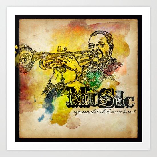 Music Epression Art Print