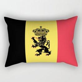 Flag of Belgium with Lion and Crown Rectangular Pillow