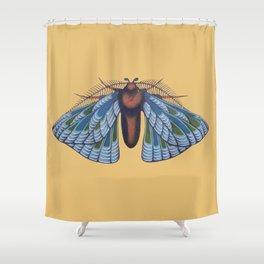 blue moth (original sold) Shower Curtain