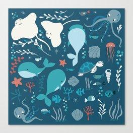 Sea creatures 004 Canvas Print