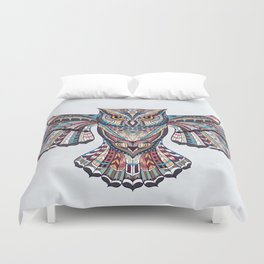 Colorful Ethnic Owl Duvet Cover