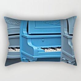 Piano Blues Rectangular Pillow