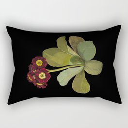 Primula Auricula by Mary Delany Paper Collage Floral Flower Botanical Mosaic Vintage Scientific Plant Anatomy Rectangular Pillow