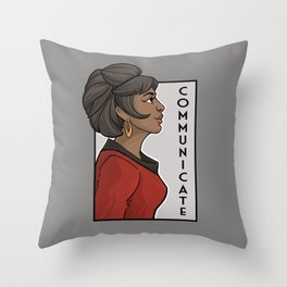 Communicate Throw Pillow