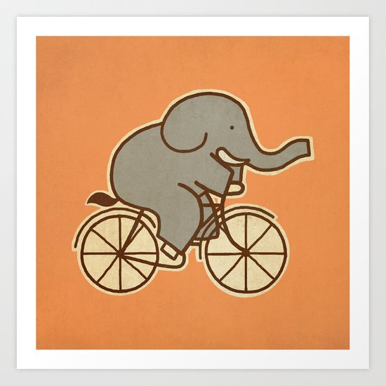 Elephant Cycle Art Print