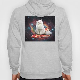 Space cat pizza Hoody
