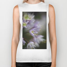 Delicate Purple Flowers Biker Tank