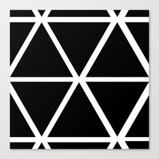 BLACK & WHITE TRIANGLES Canvas Print