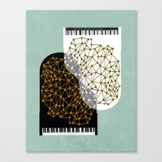 The Entertainers - Two Pianos Canvas Print