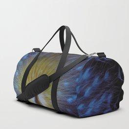 Majestic White Peacock ~ yo͞onəˌvərs Duffle Bag