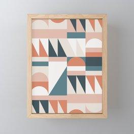 Cirque 06 Abstract Geometric Framed Mini Art Print