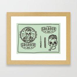 Greaser Framed Art Print