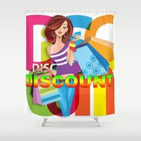 discount Shower Curtains featuring Creative Title : DISCOUNT by Don Kuing
