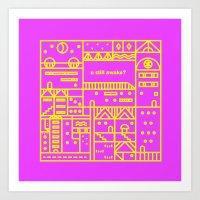 chat rooms, part 6 Art Print