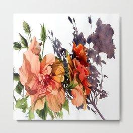 Melancholy Hibiscus Metal Print