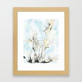 Aire y agua Framed Art Print