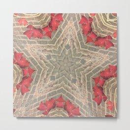 Red Brick Star Metal Print