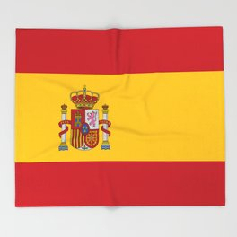 Flag of spain-spain,flag,flag of spain,espana,spanish,espanol,Castellano,Madrid,Barcelona, Throw Blanket