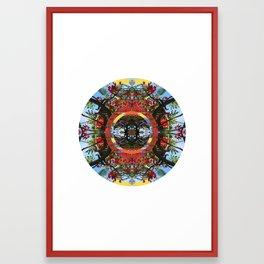 Flamboyant Mandala Framed Art Print