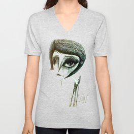 hollow Unisex V-Neck
