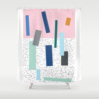 friday Shower Curtains featuring Friday by Mimmi Wide