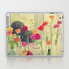 Vintage Water Color Botanical -- Colorful Spring Ranunculus Flowers Still Life Laptop & iPad Skin