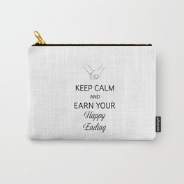 Earn Your Happy Ending [Black] Carry-All Pouch