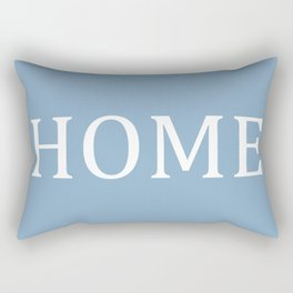 Home word on placid blue background Rectangular Pillow