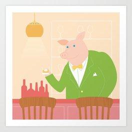 Pig's Bar Art Print