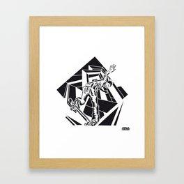 ONE INK SKATE Framed Art Print