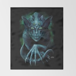 Cat People Throw Blanket