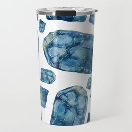 Alexandrite Birthstone Watercolor Illustration Travel Mug