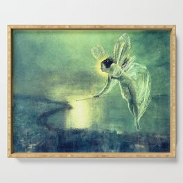 Spirit Of the Night by John Atkinson Grimshaw Serving Tray