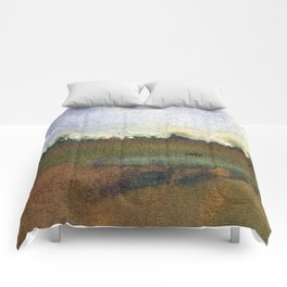 English countryside watercolour and ink landscape painting Comforters