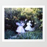 fairies Art Prints featuring Fairies by Hugh Hamilton
