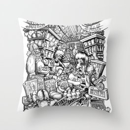 GROCER Throw Pillow