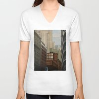 labyrinth V-neck T-shirts featuring Labyrinth by Megs stuff