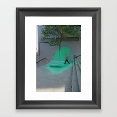 isla esmeralda Framed Art Print
