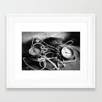 cabin pressure Framed Art Prints featuring pressure by Ruthie Aviles