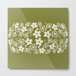 Spring Blossom Pattern Metal Print