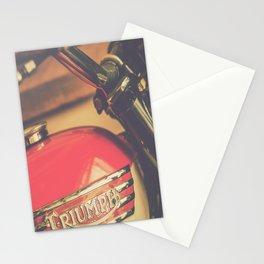 Vintage Triumph Bonneville Motorcycle Stationery Cards
