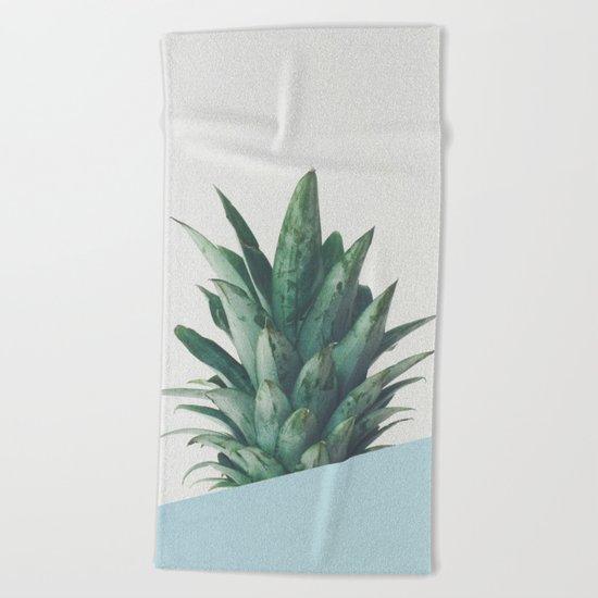 Pineapple Dip II Beach Towel