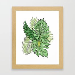 Monstera Friends Framed Art Print