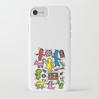 simpsons iPhone & iPod Cases featuring Keith Haring & Simpsons by le.duc
