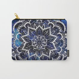 Queen Starring of Mandalas Navy Carry-All Pouch
