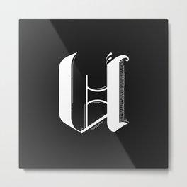 Letter U Metal Print