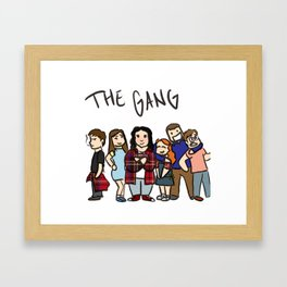 My Mad Fat Diary: The gang Framed Art Print