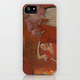 Combing the Hair by Edgar Degas iPhone Case