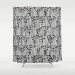 Dots + Stripes - Ash Shower Curtain