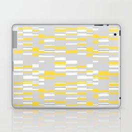 Mosaic Rectangles in Yellow Gray White #design #society6 #artprints Laptop & iPad Skin